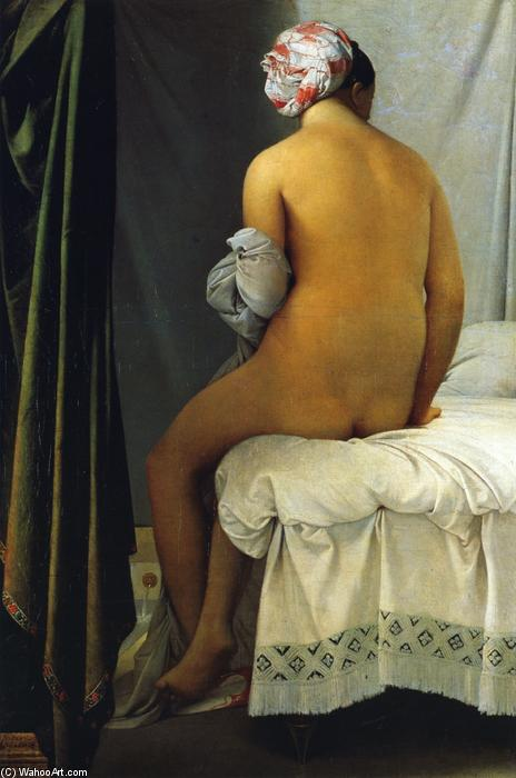 La Grande Baigneuse (also known as La Baigneuse de Valpincon), Oil On Canvas by Jean Auguste Dominique Ingres (1780-1867, France)