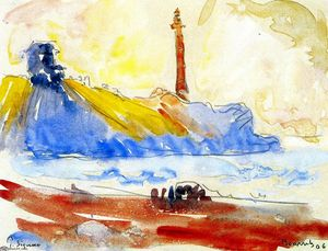 Paul Signac - The Lighthouse, Biarritz