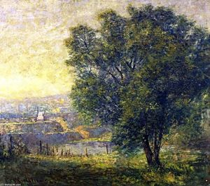 Frederick Mccubbin - The Lime Tree (also known as Yarra River from Kensington Road, South Yarra)