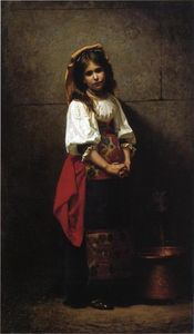 Charles Sprague Pearce - L-Italienne (also known as At the Fountain)