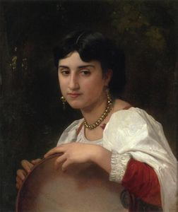 William Adolphe Bouguereau - L'Italienne au tambourin (also known as Italian Woman with Tambourine)
