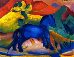 Franz Marc - The Little Blue Horse, Picture for a Child