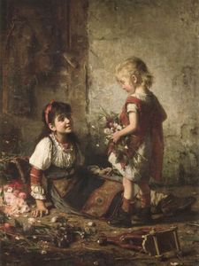 Alexei Alexeievich Harlamoff - The little flower girls