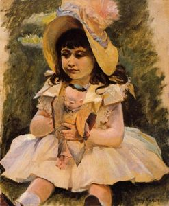 Mary Stevenson Cassatt - Little Girl with a Japanese Doll