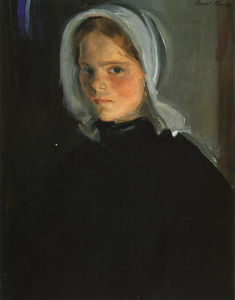 Order Hand Made Painting Little Lamerche, 1900 by Cecilia Beaux (1855-1942, United States) | WahooArt.com | Order Painting Reproduction Little Lamerche, 1900 by Cecilia Beaux (1855-1942, United States) | WahooArt.com