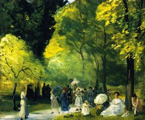 William James Glackens - Little May Day Procession