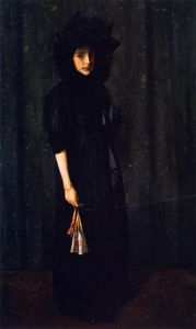 William Merritt Chase - Little Miss C. (also known as Young Girl in Black,Portrait of Young Miss C.)