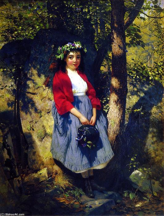The Little Queen of the Woods, Oil On Canvas by John George Brown (1831-1913, United Kingdom)