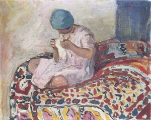 Henri Lebasque - The Little Seamstress