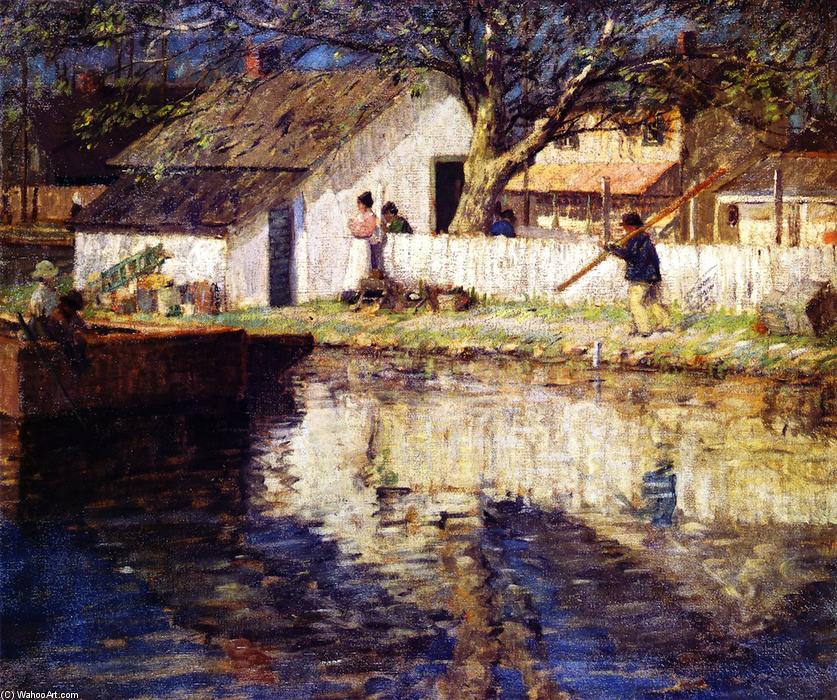 Little White House, 1915 by Rae Sloan Bredin (1880-1933, United States) | Museum Quality Reproductions | WahooArt.com