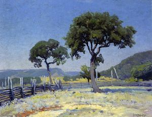 Robert Julian Onderdonk - Live Oak Trees On Williams' Ranch, Bandera County