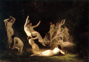 William Adolphe Bouguereau - La nymphee (also known as The Nymphaeum)