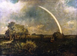 Charles Henry Miller - Long Island Landscape with Rainbow