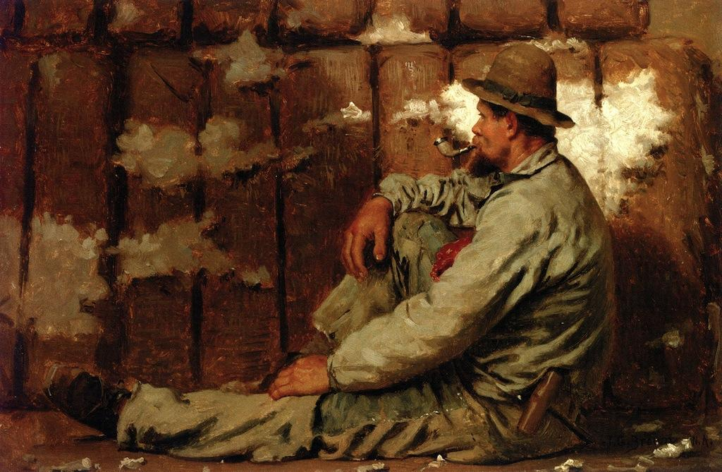 Order Art Reproductions | A Longshoreman, 1879 by John George Brown (1831-1913, United Kingdom) | WahooArt.com