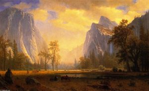 Albert Bierstadt - Looking up the Yosemite Valley