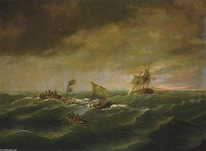 Thomas Birch - The Loss of the Schooner -John S. Spence-