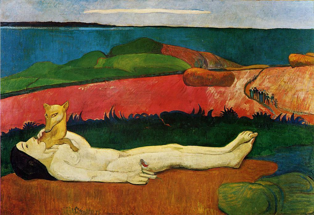 The Loss of Virginity (also known as The Awakening of Spring), Oil On Canvas by Paul Gauguin (1848-1903, France)