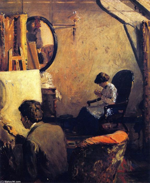 Order Oil Painting : Louis Kronberg in His Studio in Copley Hall, 1913 by Arthur Clifton Goodwin (1864-1929, United States) | WahooArt.com