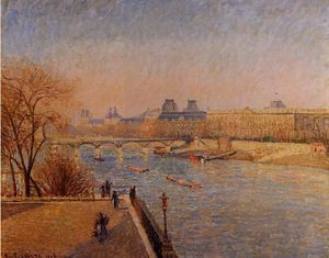 Camille Pissarro - The Louvre: Winter Sunshine, Morning