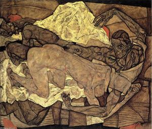Egon Schiele - Lovers: Man and Woman I