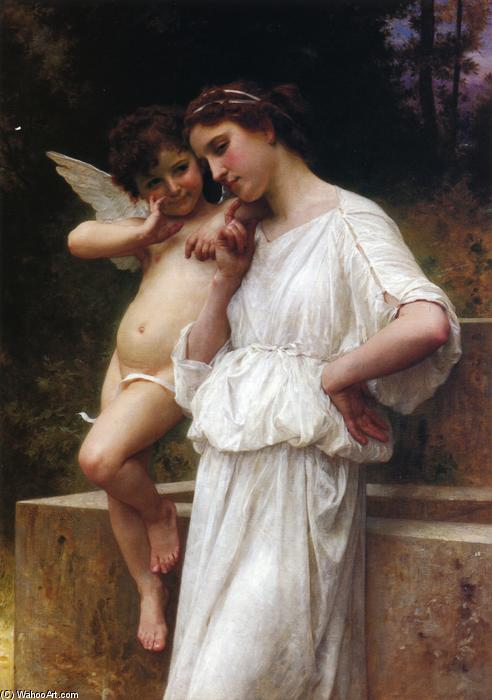 Love's Scerets, Oil On Canvas by William Adolphe Bouguereau (1825-1905, France)