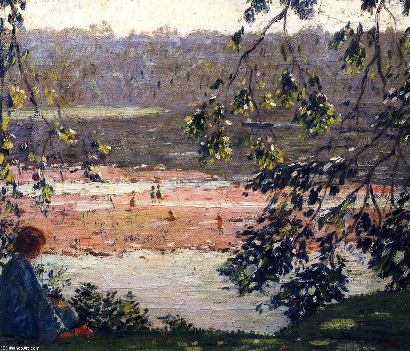 Low River by Rae Sloan Bredin (1880-1933, United States) | Famous Paintings Reproductions | WahooArt.com