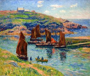 Henri Moret - Low Tide