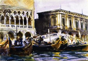 John Singer Sargent - La Riva (also known as La Rive degli Schiavoni)