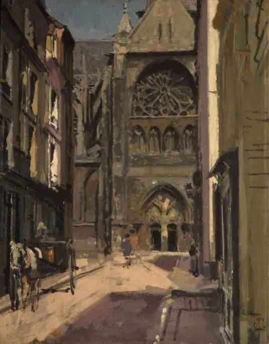 Order Museum Quality Copies | La rue Pecquet, Dieppe, France, 1900 by Walter Richard Sickert (1860-1942, Germany) | WahooArt.com