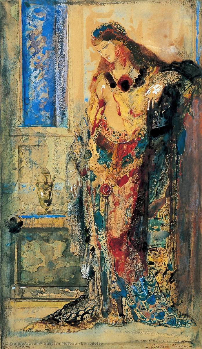 La Toilette, 1885 by Gustave Moreau (1826-1898, France) | Museum Quality Reproductions | WahooArt.com