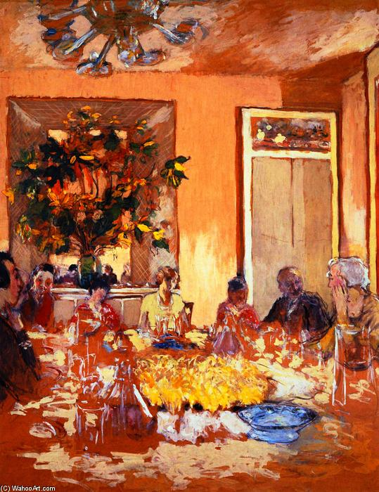 Luncheon at Les Clayes, Painting by Jean Edouard Vuillard (1868-1940, France)