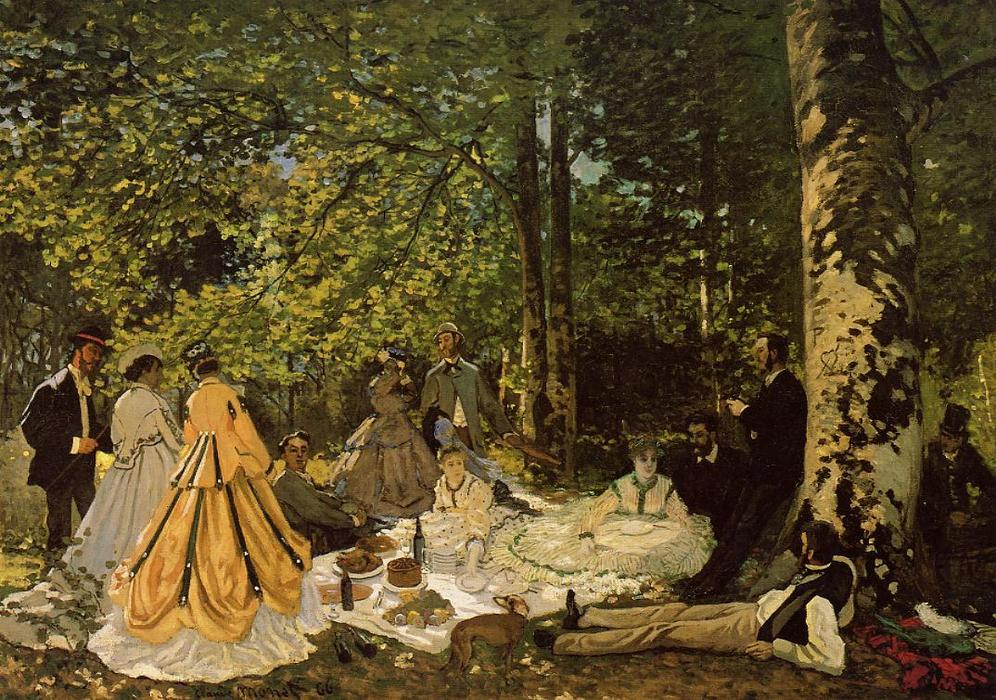 Luncheon on the Grass, 1865 by Claude Monet (1840-1926, France) | Museum Quality Copies Claude Monet | WahooArt.com