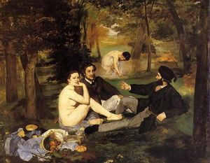 Edouard Manet - Luncheon on the Grass - (oil painting reproductions)