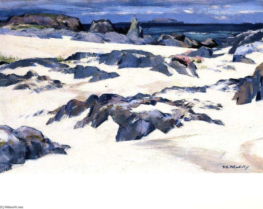Lunga from Iona, Oil On Canvas by Francis Campbell Boileau Cadell (1883-1937)