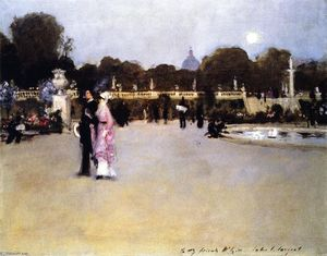 John Singer Sargent - The Luxembourg Gardens at Twilight (also known as Twilight in the Luxembourg Gardens)