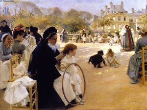 Albert Edelfelt - The Luxembourg Gardens, Paris
