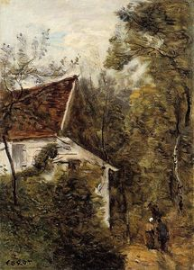 Jean Baptiste Camille Corot - Luzancy, the Path through the Woods