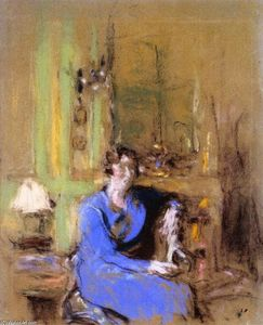 Jean Edouard Vuillard - Madame Lucien Sauphar, Seated in Her Salon