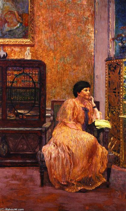 Madame Marcel Kapferer at Home, Frescoes by Jean Edouard Vuillard (1868-1940, France)