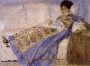 Pierre-Auguste Renoir - Madame Monet on a Sofa