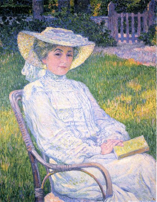 Madame Theo van Rysselberghe in the Garden, 1904 by Theo Van Rysselberghe (1862-1926, Belgium) | WahooArt.com