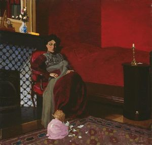 Felix Vallotton - Madame Vallotton and her Niece, Germaine Aghion
