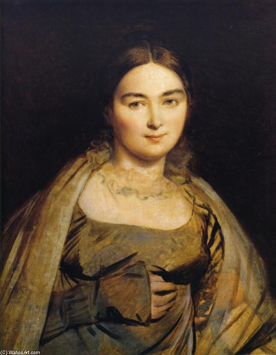 Madeleine Ingres, nee Chapelle, Oil On Canvas by Jean Auguste Dominique Ingres (1780-1867, France)