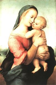 Raphael (Raffaello Sanzio Da Urbino) - Madonna and Child (The Tempi Madonna) - (Famous paintings reproduction)