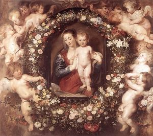Peter Paul Rubens - Madonna in Floral Wreath