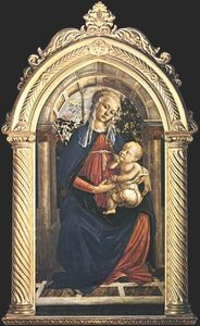 Sandro Botticelli - Madonna of the Rosengarden (also known as Madonna del Roseto)