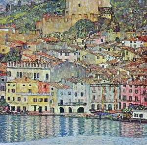 Order Art Reproductions | Malcesine on Lake Garda, 1913 by Gustav Klimt (1862-1918, Austria) | WahooArt.com