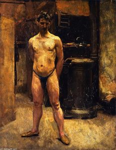 John Singer Sargent - A Male Model Standing before a Stove