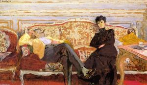Jean Edouard Vuillard - M. and Mme Feydeau on a Sofa