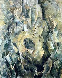 Georges Braque - Mandola - (Famous paintings reproduction)